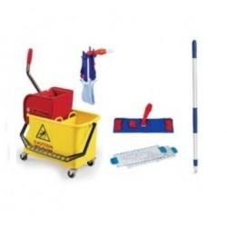 Kit lavage nettoyage à plat complet pour sols - professionnel, particulier - 5 éléments