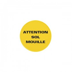 Panneau ATTENTION SOL MOUILLE