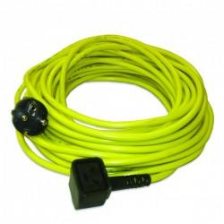 Câble jaune 15m 3x1,5mm² NUPLUG - NUMATIC